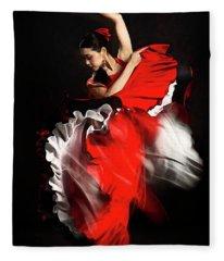 Flamenco Dancer - 01 Fleece Blanket