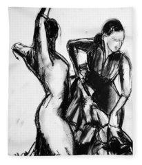 Flamenco Sketch 1 Fleece Blanket