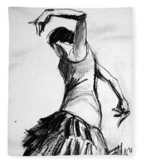 Flamenco Sketch 2 Fleece Blanket