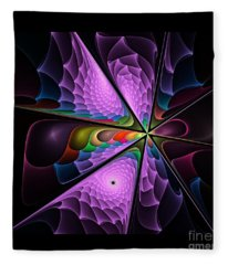 Flames On Black -m- Fleece Blanket