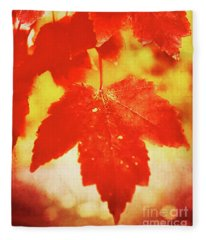 Flaming Autumn Fleece Blanket