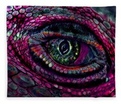 Flaming Dragons Eye Fleece Blanket