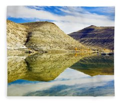 Flaming Gorge Water Reflections Fleece Blanket