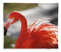 Flamingo 2 Fleece Blanket
