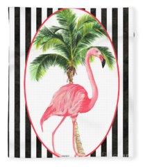Flamingo Amore 7 Fleece Blanket