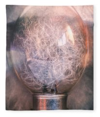 Flash Bulb Fleece Blanket