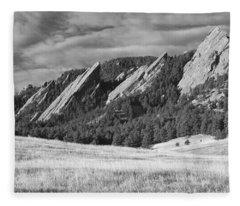 Flatiron Morning Light Boulder Colorado Bw Fleece Blanket