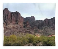 Flatiron Of The Superstition Mountains Fleece Blanket