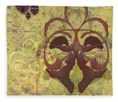 Fleur De Lis Fleece Blanket