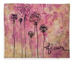 Fleur Fleece Blanket