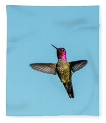 Flight Of A Hummingbird Fleece Blanket