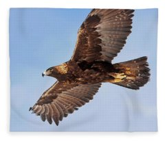 Flight Of The Golden Eagle Fleece Blanket