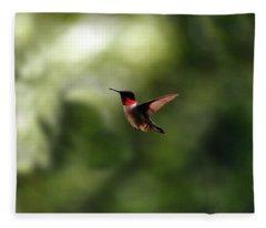 Flight Of The Hummingbird Fleece Blanket