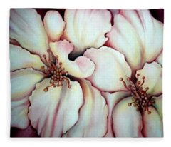 Flighty Floral Fleece Blanket
