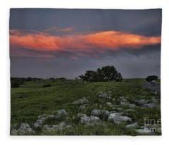 Flinthills Sunset Fleece Blanket