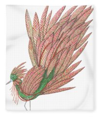 Flippy The Feather Duster, The Exotic Bird Fleece Blanket