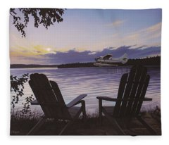 Float Plane Fleece Blanket
