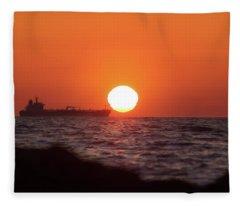 Floating Around The Sun Fleece Blanket