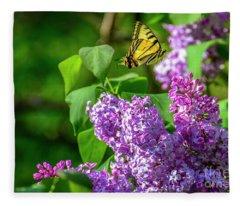Floating Butterfly Fleece Blanket