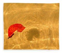 Floating In Gold Fleece Blanket