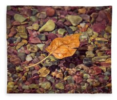 Floating Leaf Fleece Blanket