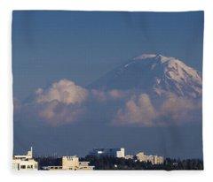 Floating Mountain Fleece Blanket