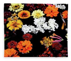 Floating Petals Fleece Blanket