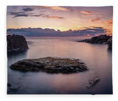 Floating Rocks Fleece Blanket