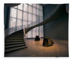 Floating Spiral Staircase Of Chicago Art Institute Fleece Blanket