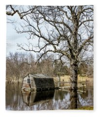 Flooded Boathouse At The Old Manse Fleece Blanket