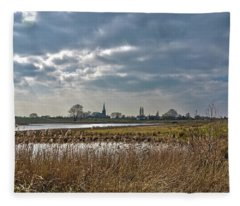 Floodplains Near Culemborg Fleece Blanket