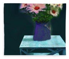 Floral  Art 337 Fleece Blanket
