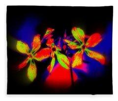Floral Aurora Borealis   Fleece Blanket
