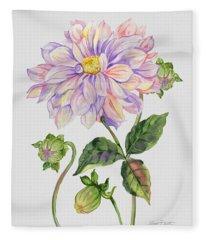 Floral Botanicals-jp3778 Fleece Blanket