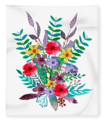 Just Flora Fleece Blanket