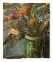 Floral Bouquet Fleece Blanket