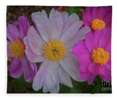 Floral Delight Fleece Blanket