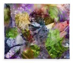 Floral Dream Of Oriental Beauty Fleece Blanket