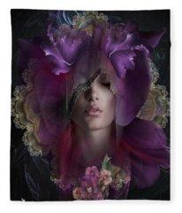 Floral Dreams Fleece Blanket