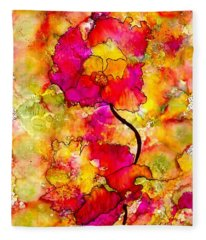 Floral Duet Fleece Blanket