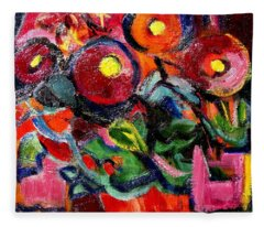 Floral Fiesta With Hola Fleece Blanket