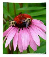 Floral Go Round Fleece Blanket