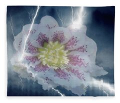 Floral Lightning Reflections Fleece Blanket