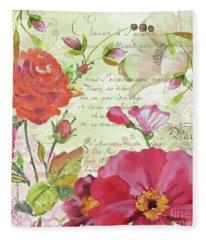 Floral Love Song-jp3941 Fleece Blanket