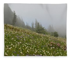 Floral Meadow Fleece Blanket