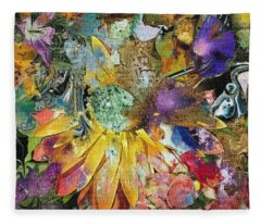 Floral Mix Fleece Blanket