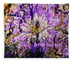 Floral Poetry Of Time Fleece Blanket
