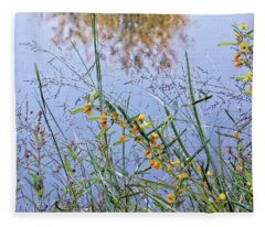 Floral Pond  Fleece Blanket