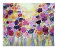 Floral Splendor IIi Fleece Blanket