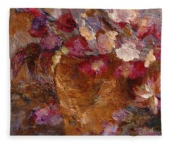 Floral Still Life Pinks Fleece Blanket